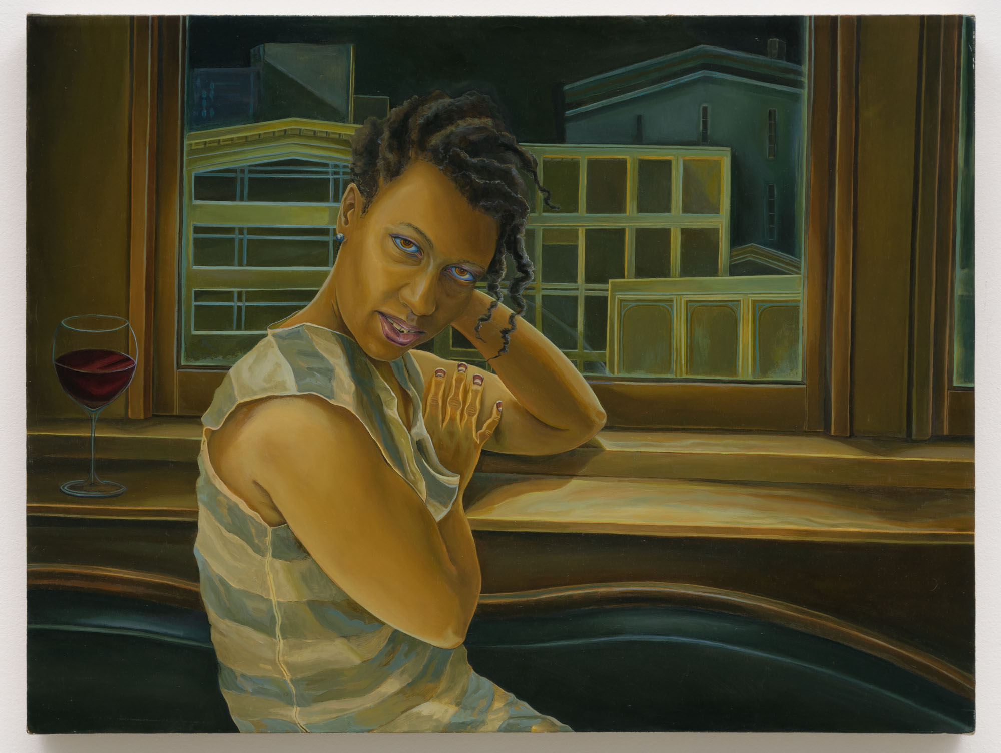 Aaron Gilbert   S.W. , 2013  Oil on canvas  19 x 25 inches