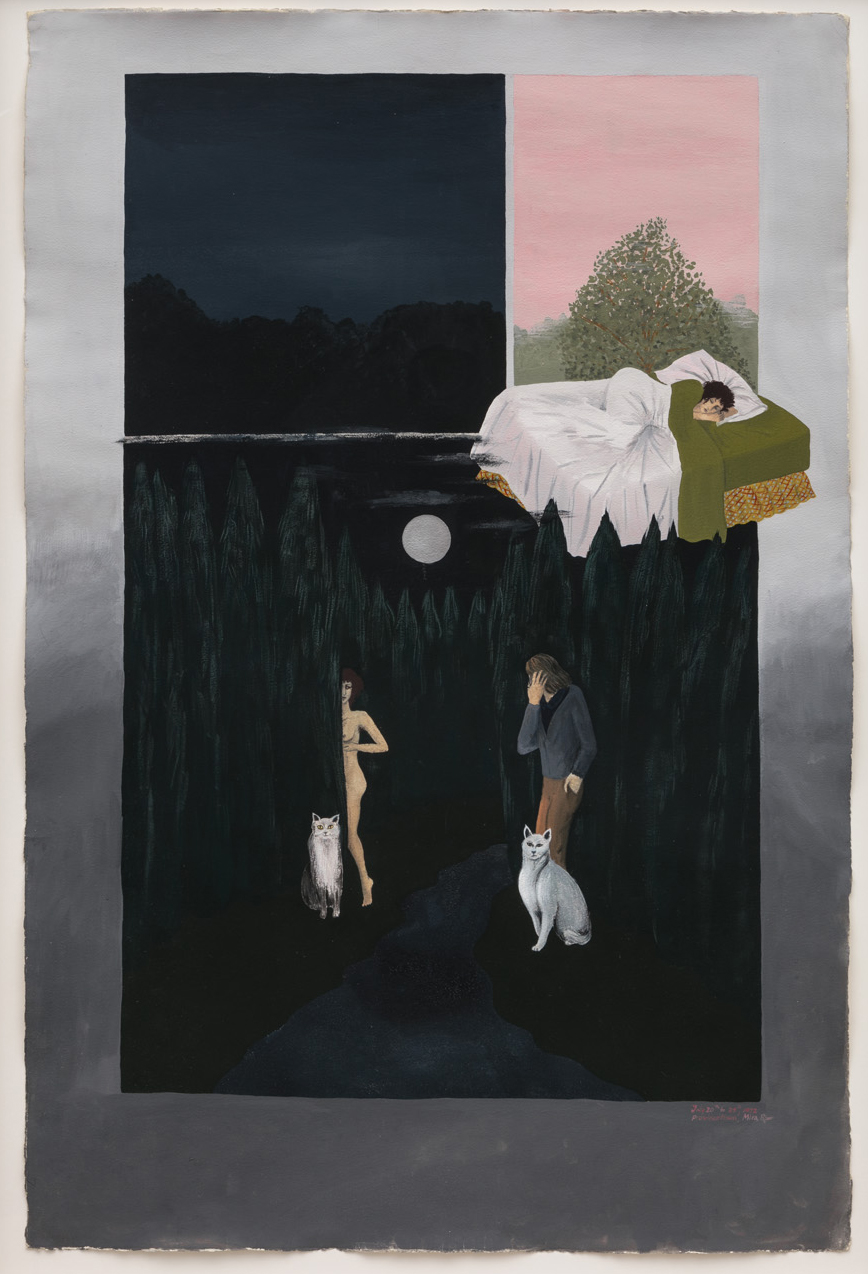 Mira Schor   Dream , 1972  Gouache on paper  40 x 22 inches