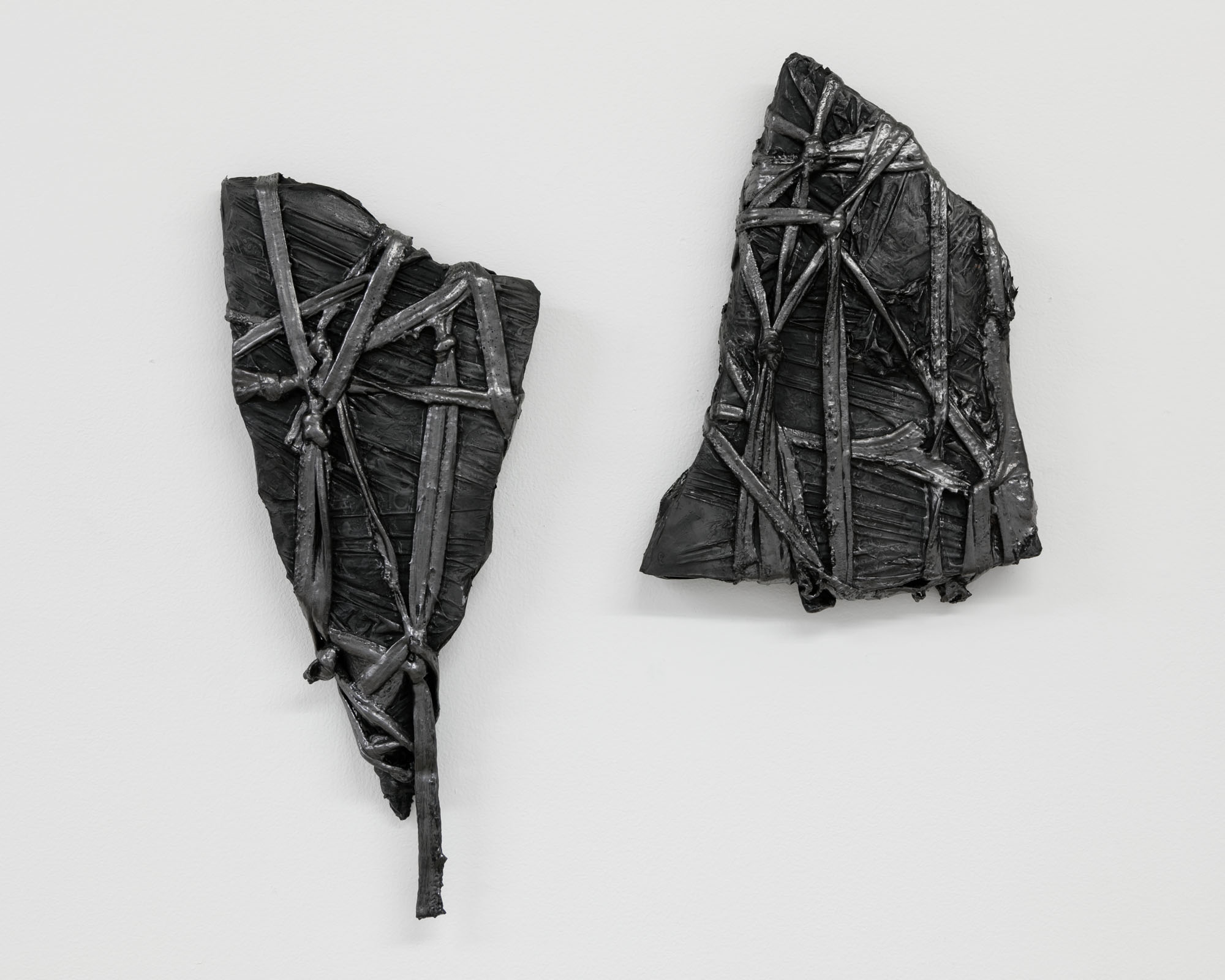 Lauren Seiden  Bound,  2019 Marble, graphite pencil, cotton, and mixed medium 14 x 6 inches (35.56 x 15.24 cm)