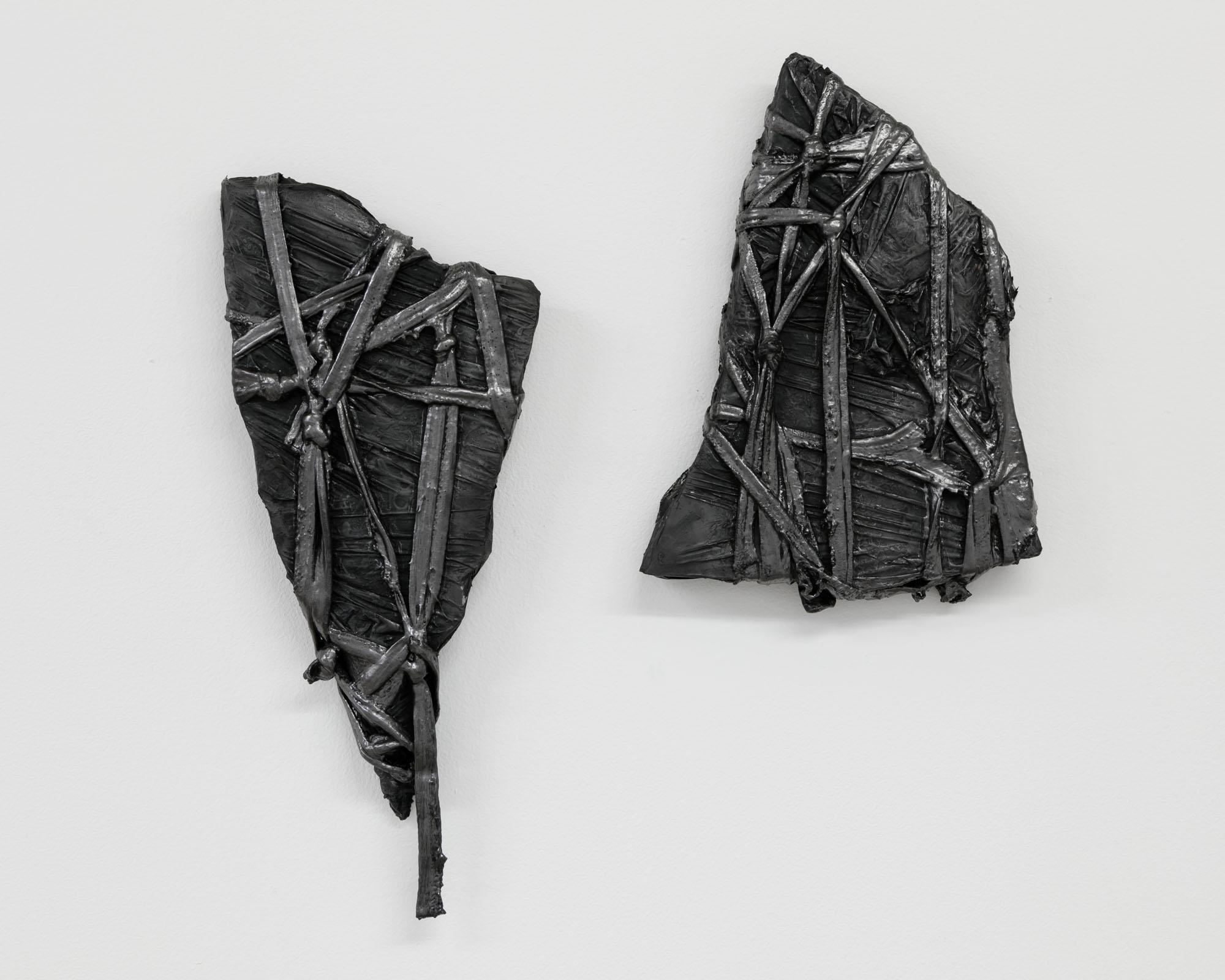 Lauren Seiden  Bound,  2019 Marble, graphite pencil, cotton, and mixed medium 14 x 6 inches (35.56 x 15.24 cm)