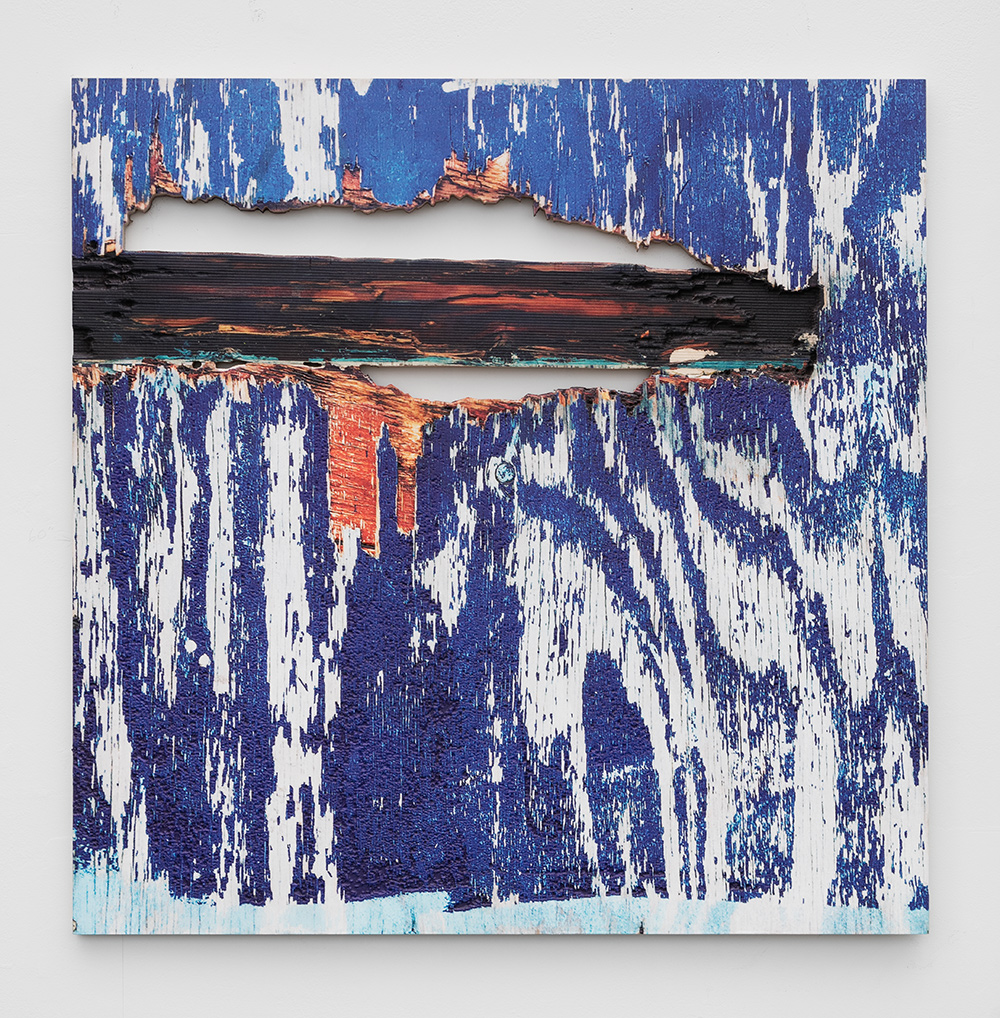 Ethan Greenbaum  Perf , 2017 Direct to substrate print, acrylic on carved birch  30 x 30 x 0.75 inches (76.2 x 76.2 x 1.9 cm)