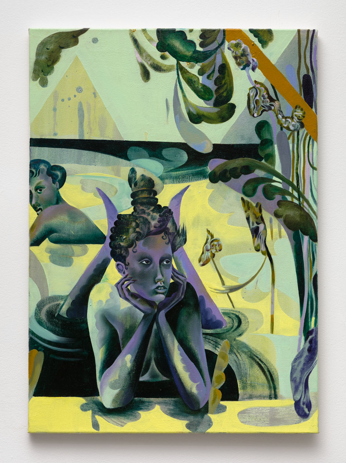 Jessie Makinson    Like a Villainelle , 2018  Oil on canvas  27.5 × 19.625 inches (70 × 50 cm)
