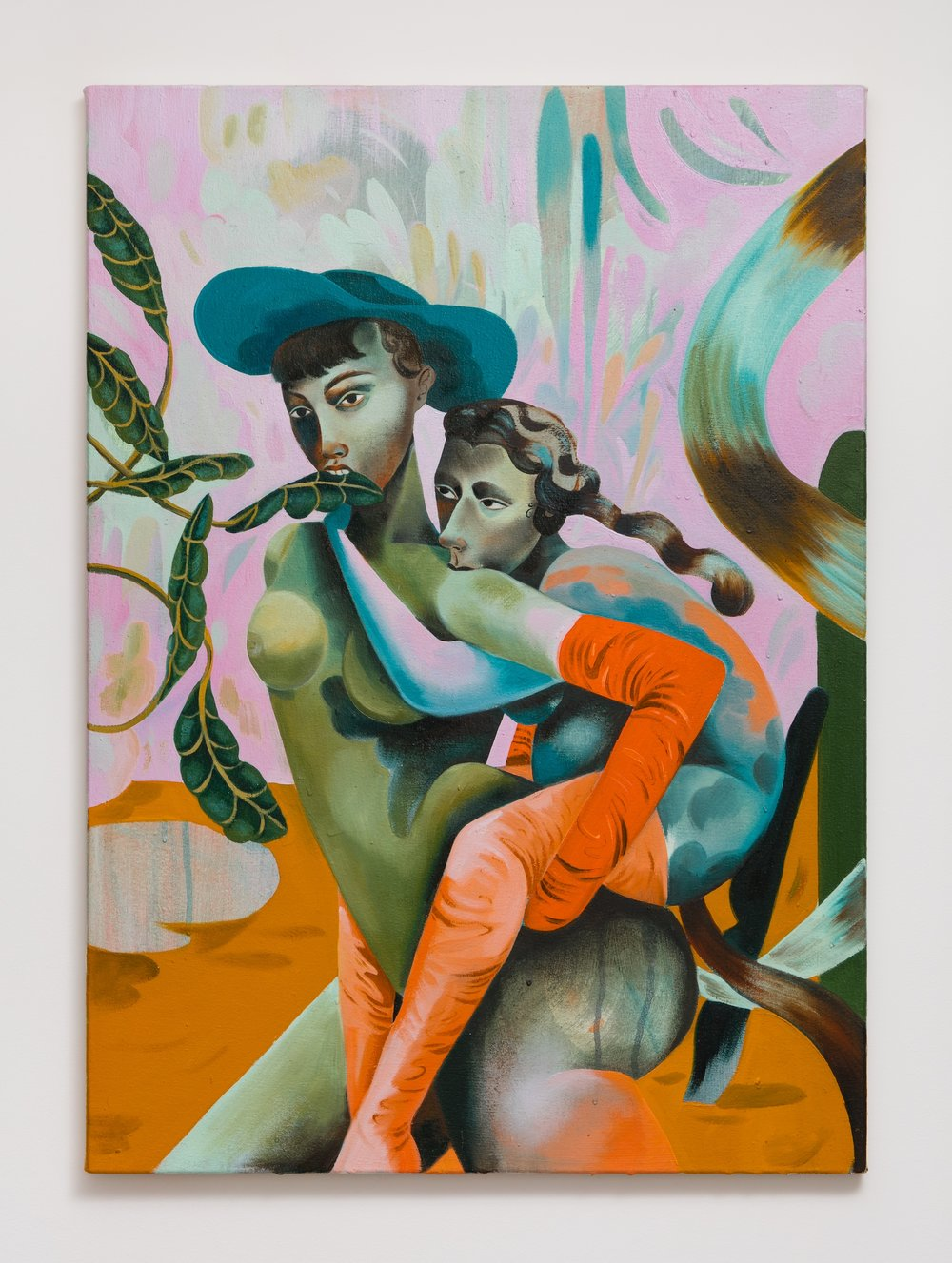 Jessie Makinson    She-dandies , 2018  Oil on canvas  27.5 × 22.875 inches (70 × 58 cm)