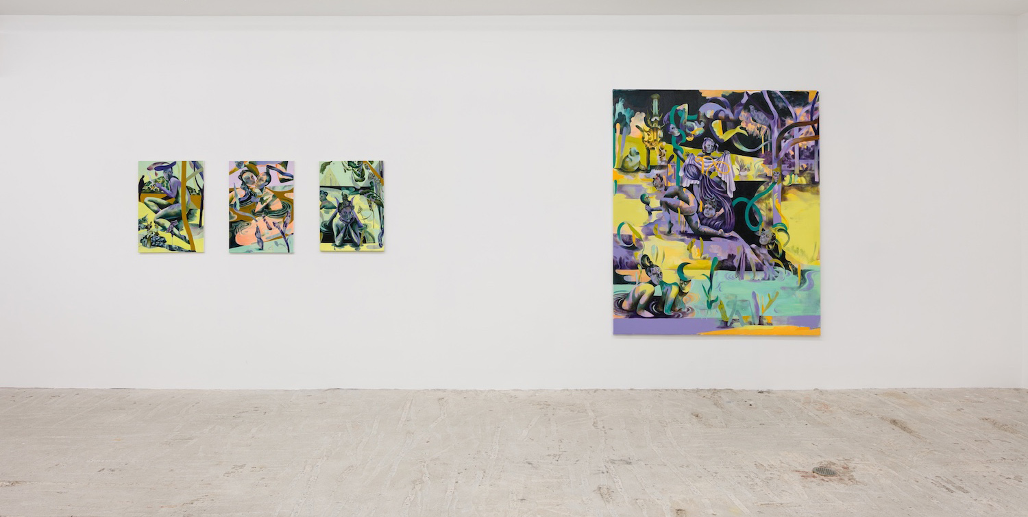 Jessie Makinson,  Jessie Makinson & Stuart Lorimer,  Installation view at Lyles & King, November 28, 2018 - January 13, 2019