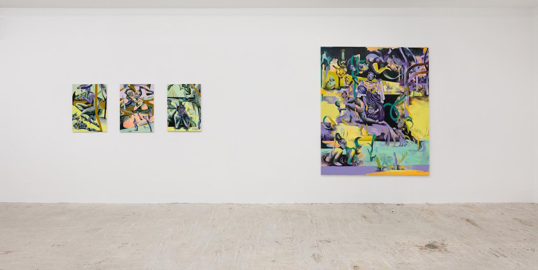 Installation view   Jessie Makinson & Stuart Lorimer   Lyles & King  November 28, 2018 - January 13, 2019