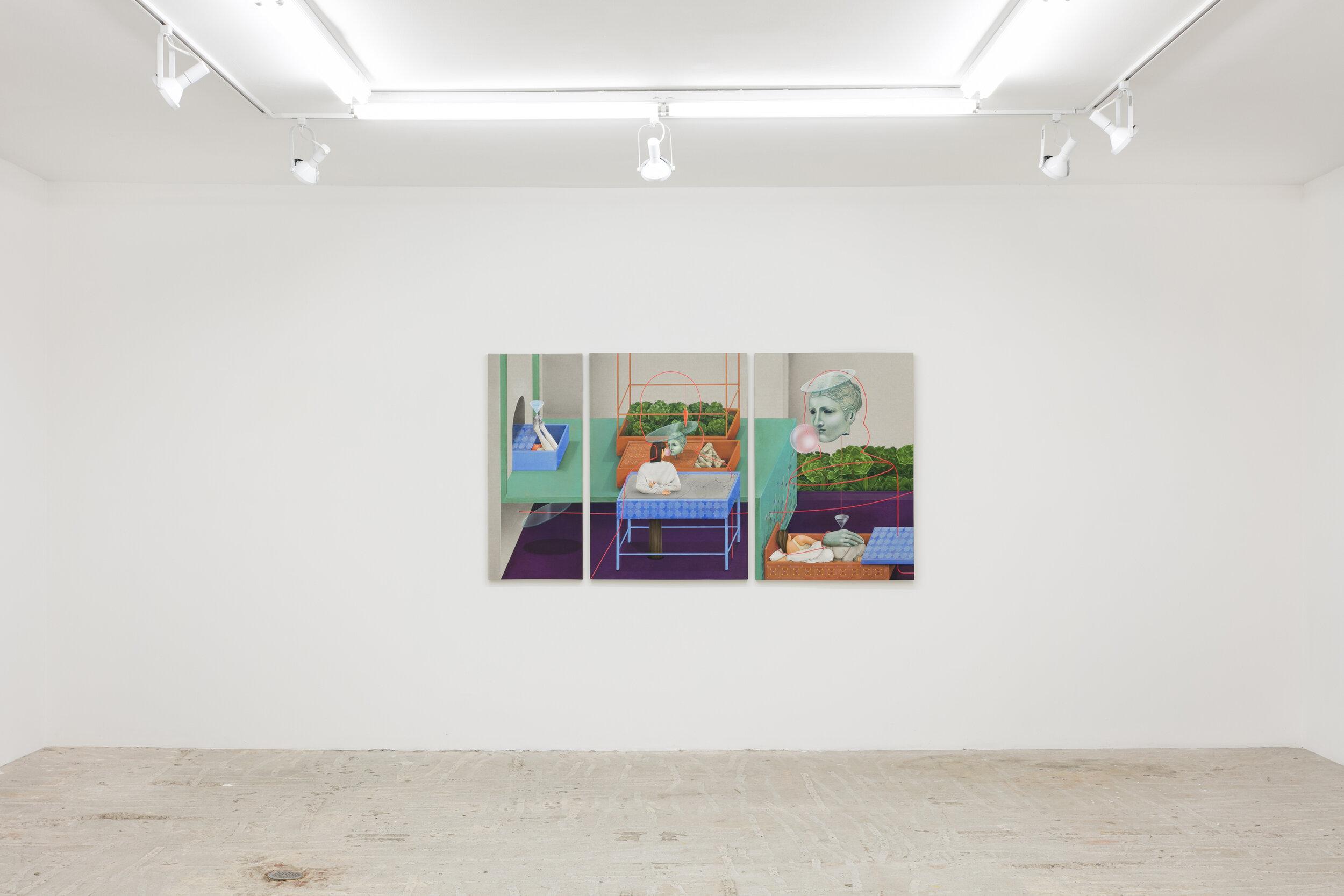 Arghavan Khosravi    Suspended Life , 2019  Installation view