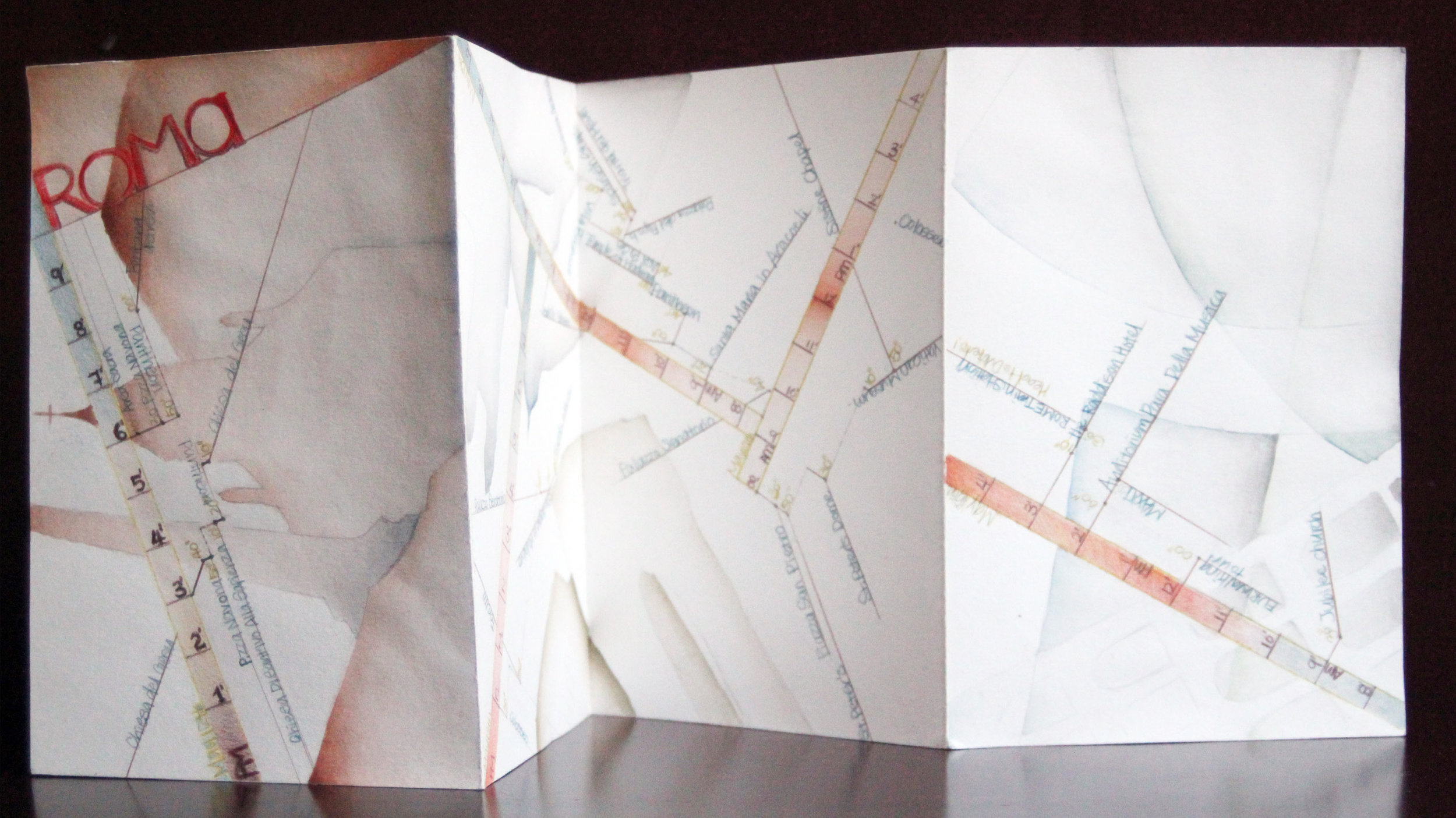 Rome experiential map by Sharon Peng