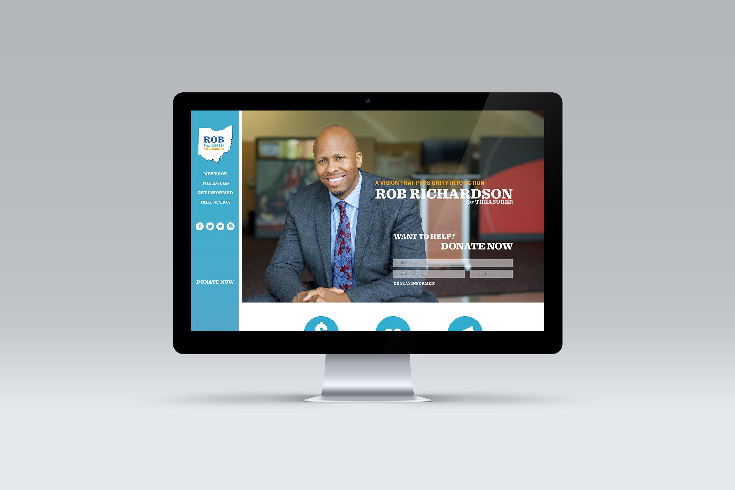 Desktop layout of the Homepage