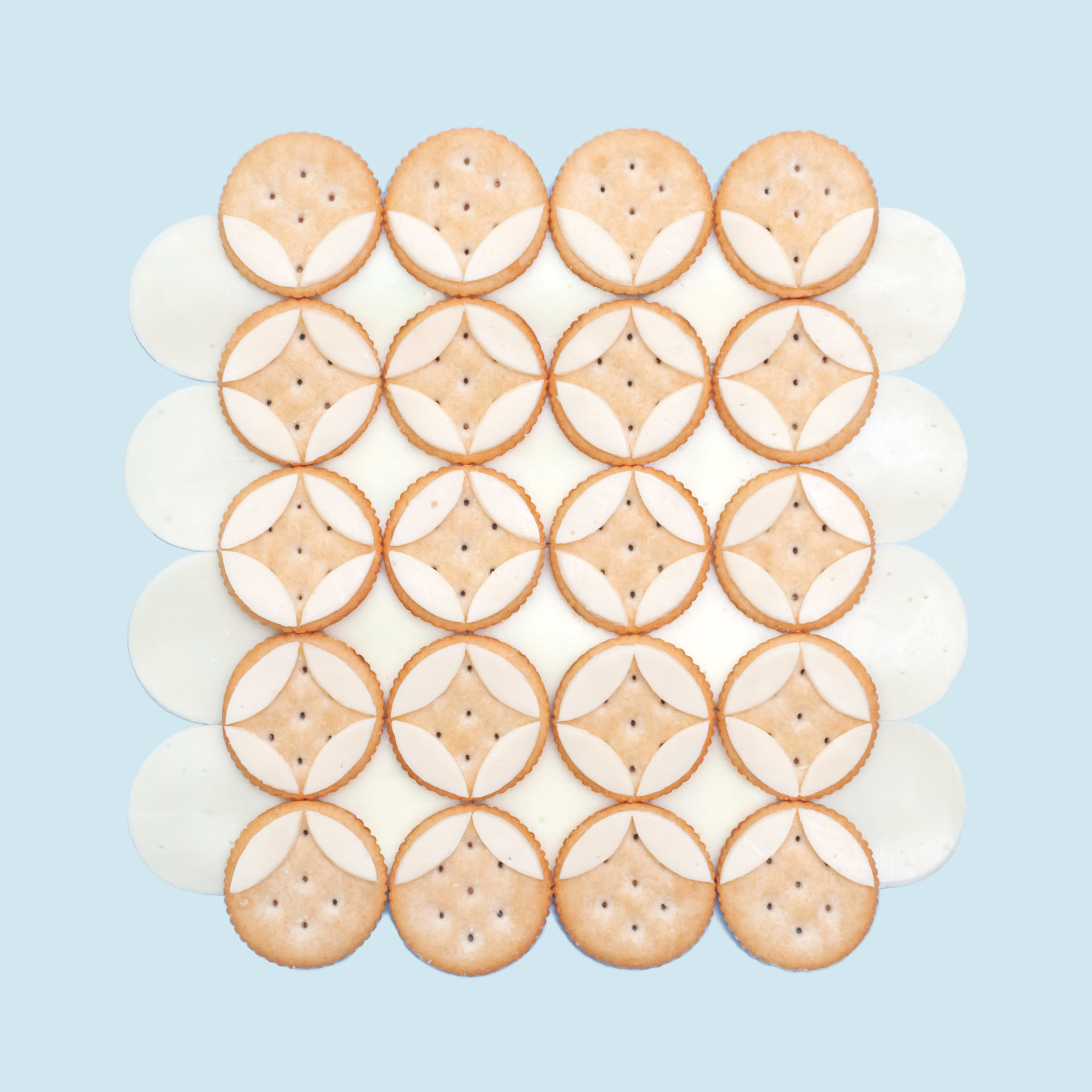 cheese on crackers / circles on circles by Kristen Meyer