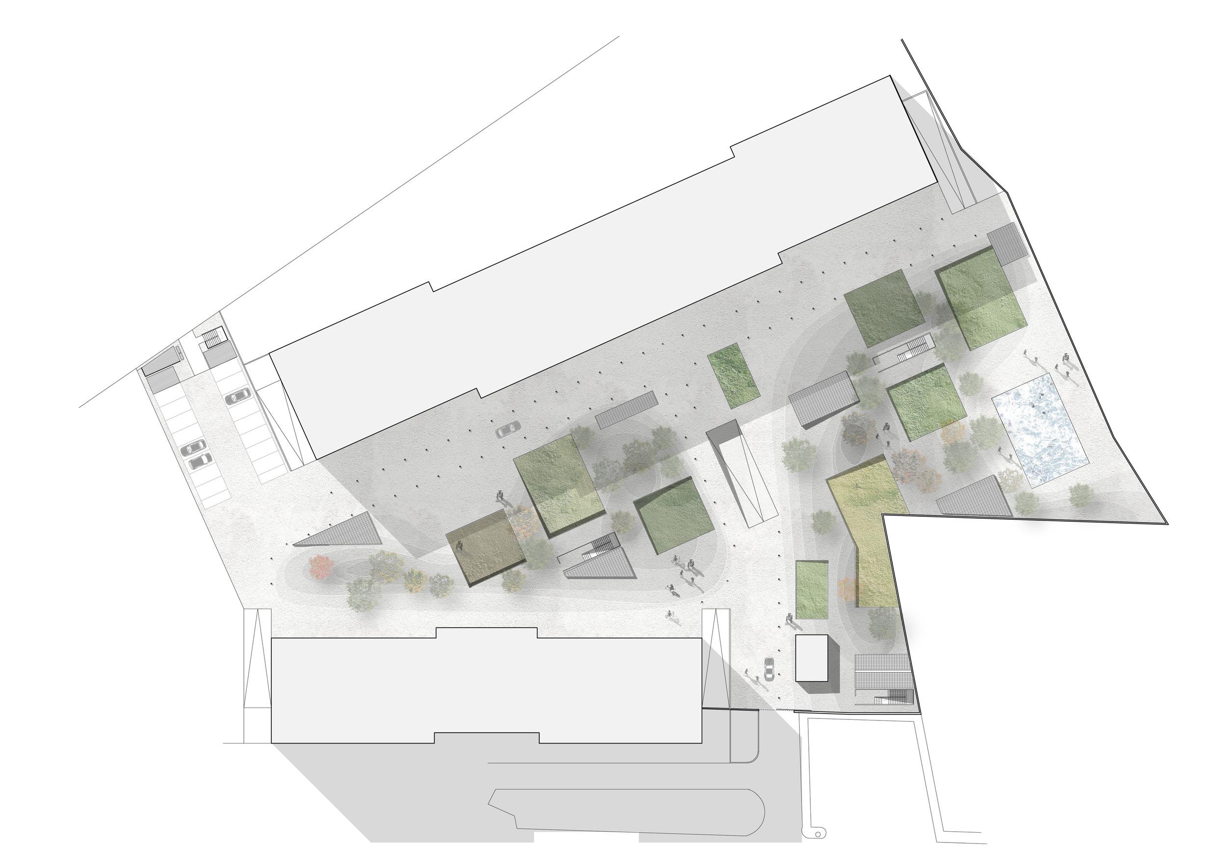 Planimetria dell'intervento al livello del parco condominiale