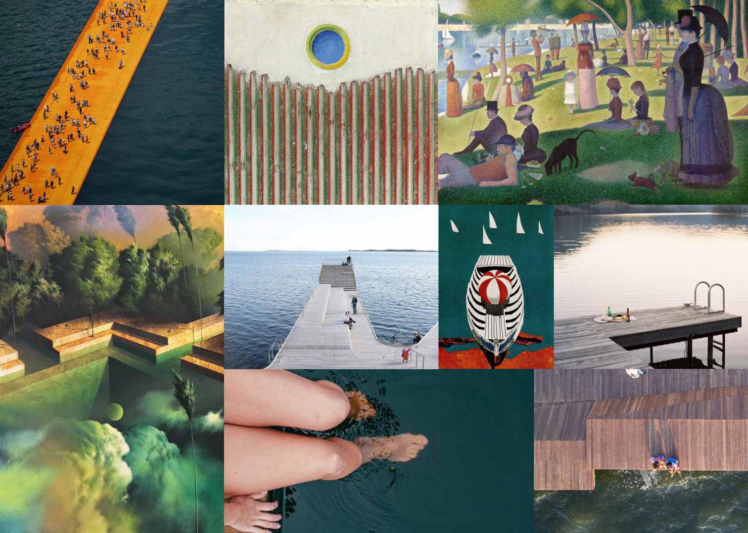 Moodboard: immagini di ispirazione e primi spunti di progetto.
