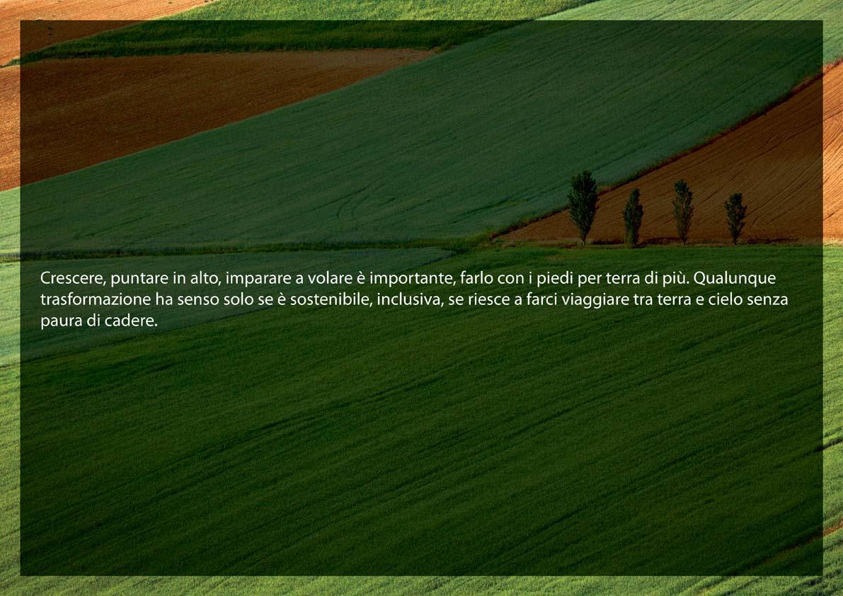 La slide di introduzione alla soluzione proposta, fortemente legata all'immaginario agricolo.