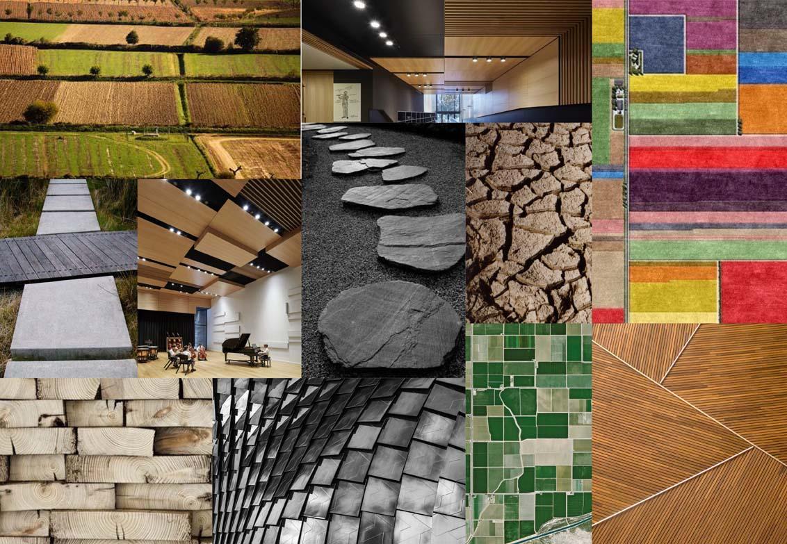Moodboard, una selezione di immagini e riferimenti che hanno ispirato il progetto e guidato il processo creativo.