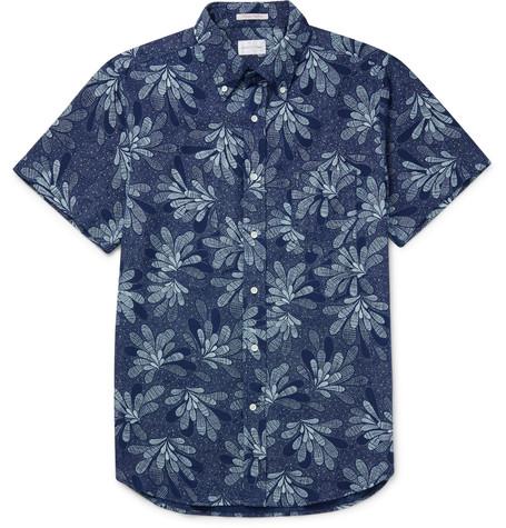 Gant Rugger Slim-Fit Printed Button-Down Collar Cotton Shirt