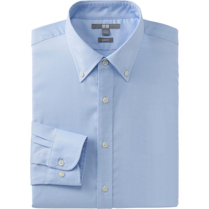 Light Blue Slim Fit Oxford