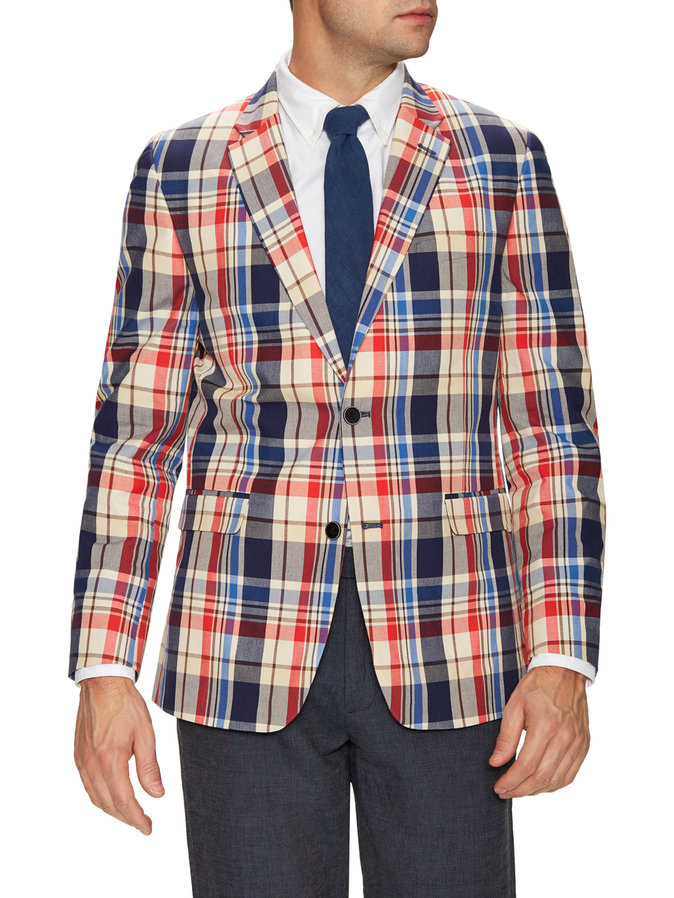 The notch lapels make this option a little more formal, but this is without the best color scheme I found which is why it came in first place. Shop at  Gilt.com