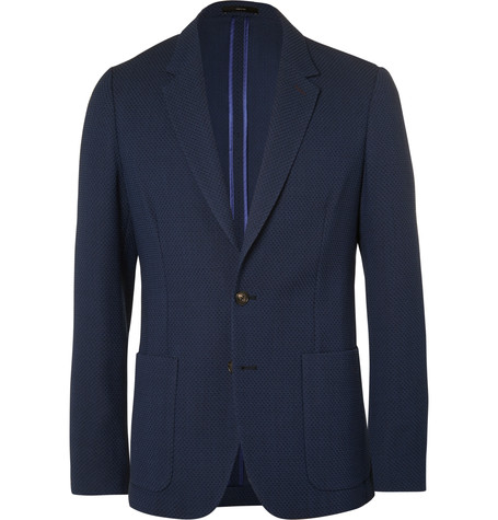 Because if you're involved in frat life or just the type of kid who is always going to an important event, the last thing you want to do is blend in with the sea of navy blazers and over-sized khakis. If you still want to stay in your comfort zone, go with this blazer from Paul Smith with soft shoulders, wool that's woven for year-round wear, and an impeccable fit.
