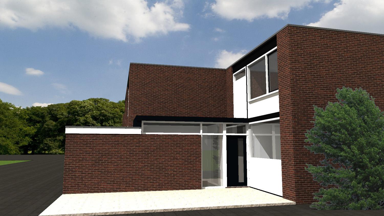 Ontwerp voor een kleine verbouwing te 's-Hertogenbosch, door Annemarieke van Dooren Architect te Vessem