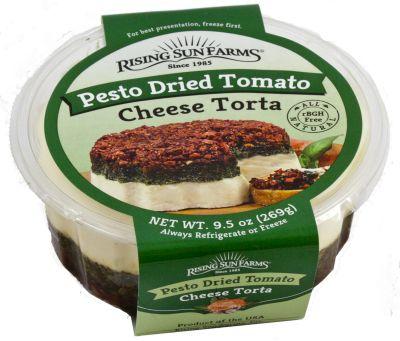 Pesto Dried Tomato Cheese Torta 9.5 oz.