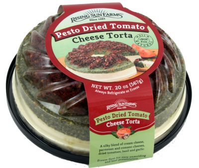 Pesto Dried Tomato Cheese Torta 20 oz.