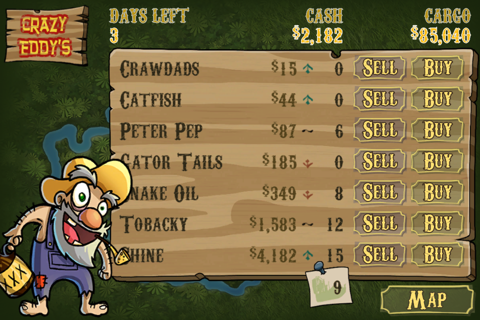 Buy and sell contraband goods for a place in the Smuggler's Hall of Fame!