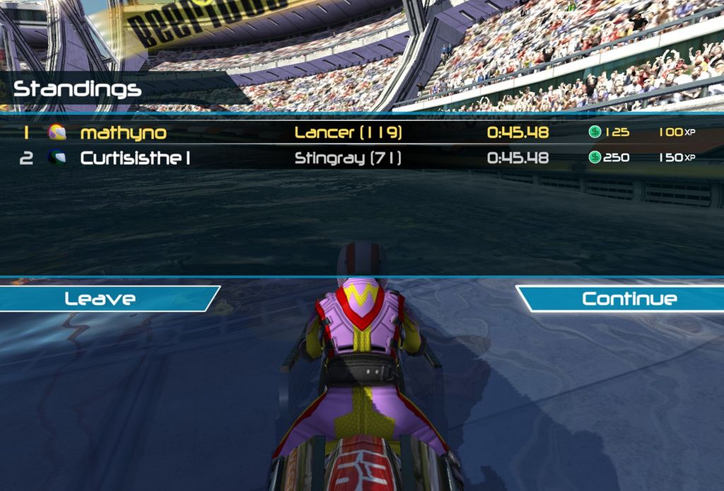 Another time was when I was racing a friend and we got the same time down to the mi  lli  second!       -  Matt, New Zealand