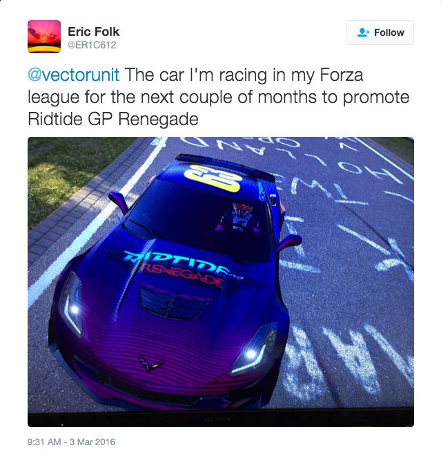 March 3 2016 - Eric Folk tweet1  Forza car.jpeg