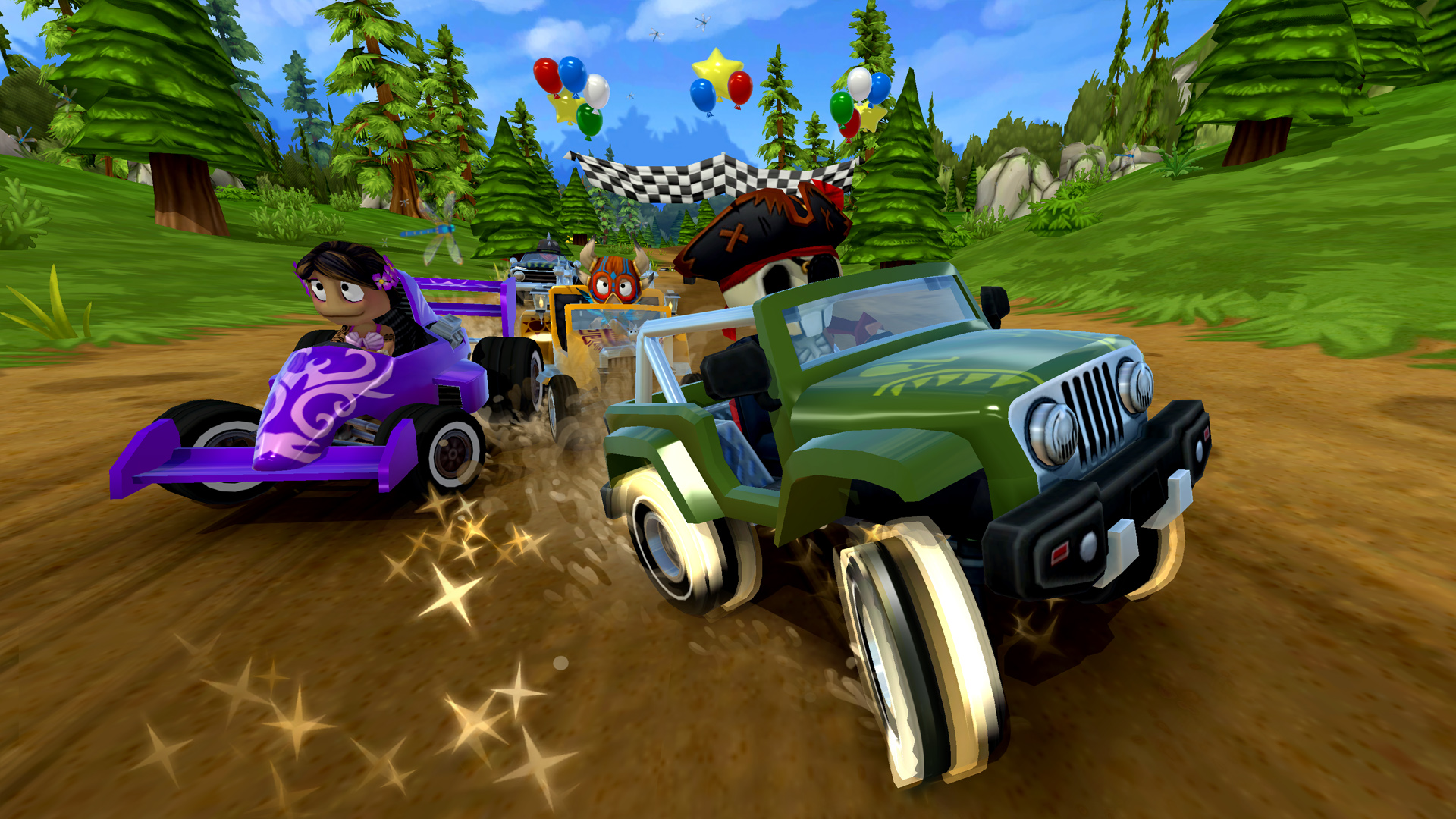 Every car in Beach Buggy Racing 2 has a unique driving style.