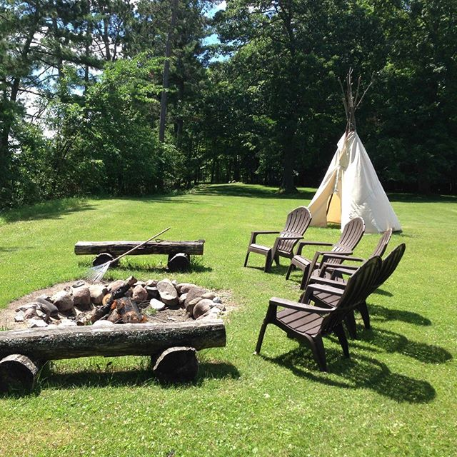 South #firepit and #teepee #tipi at #sugarcrest