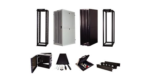 Mighty Mi Channel Racks, GX Cabinets, Q-Series Cabinets, Mighty Mo 20 4-Post Racks, Wall Mount Cabinets, Overfloor Raceway, Wiremold Floor Boxes, Double-Sided Horizontal Managers