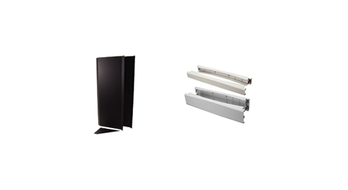 Airflow Baffles, Tool-Less Snap-In Filter Panels