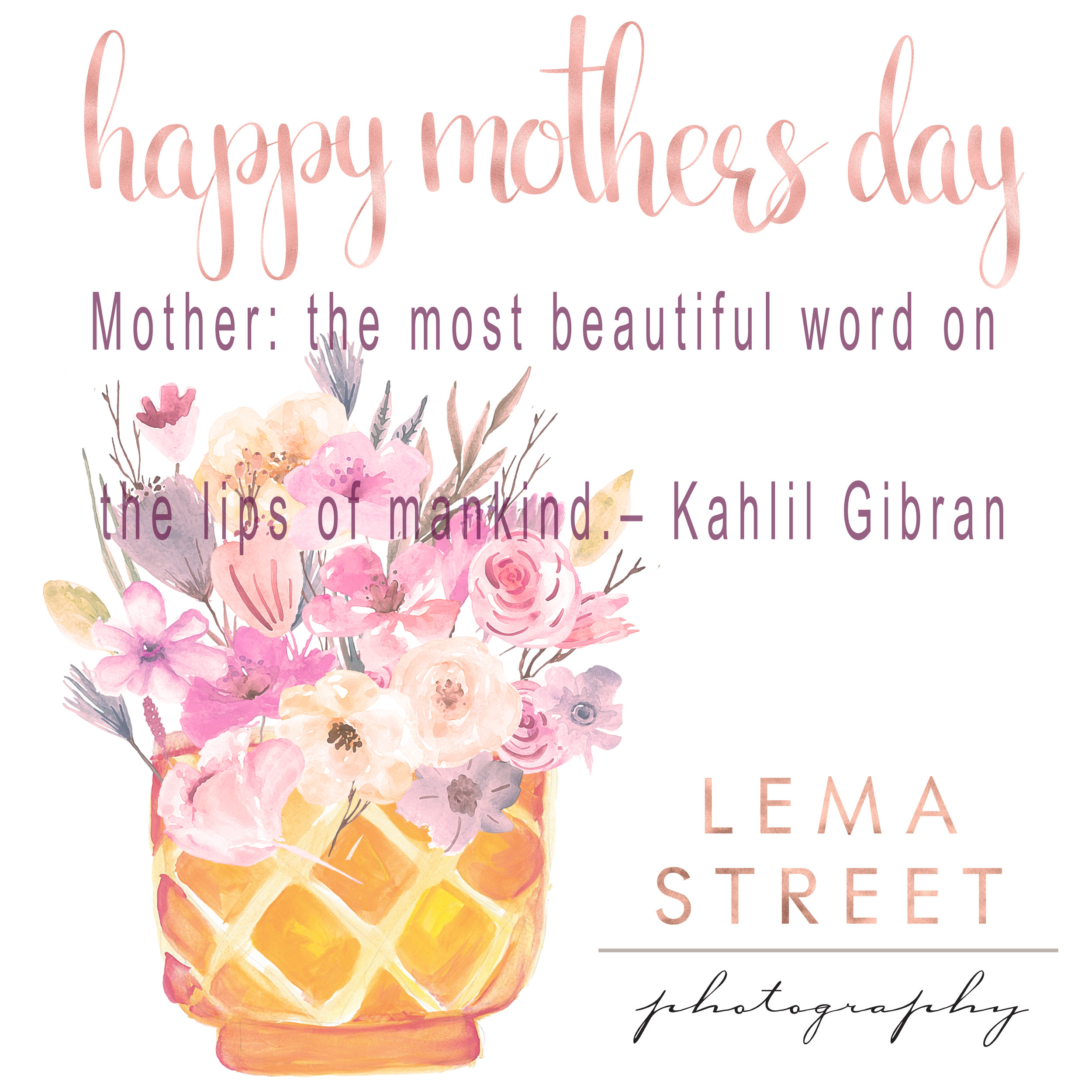All of at Lema Street Photography wish you a Happy Mother's Day.