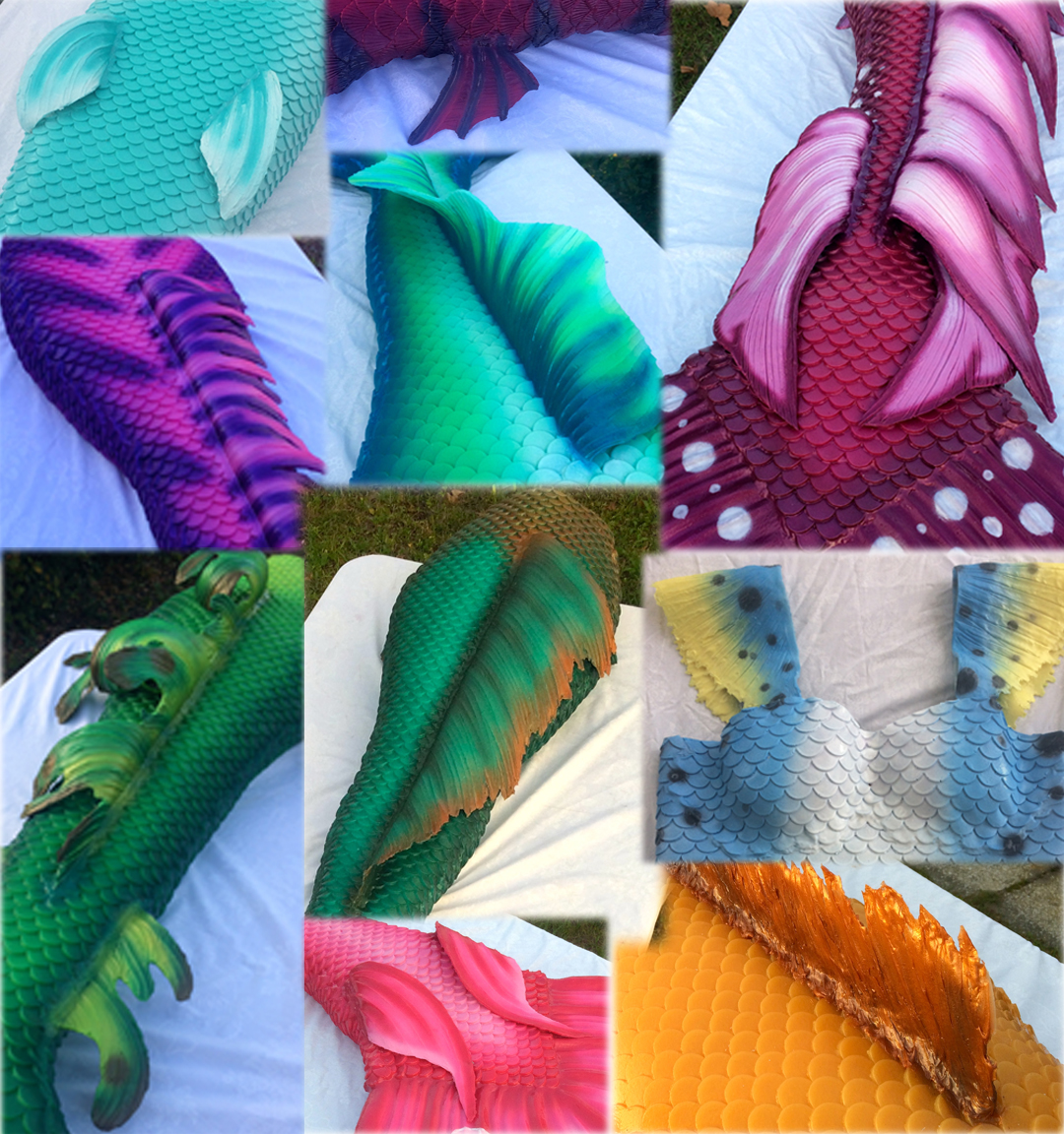 A SMALL SELECTION OF SOME OF THE UNIQUE FINS WE HAVE MADE