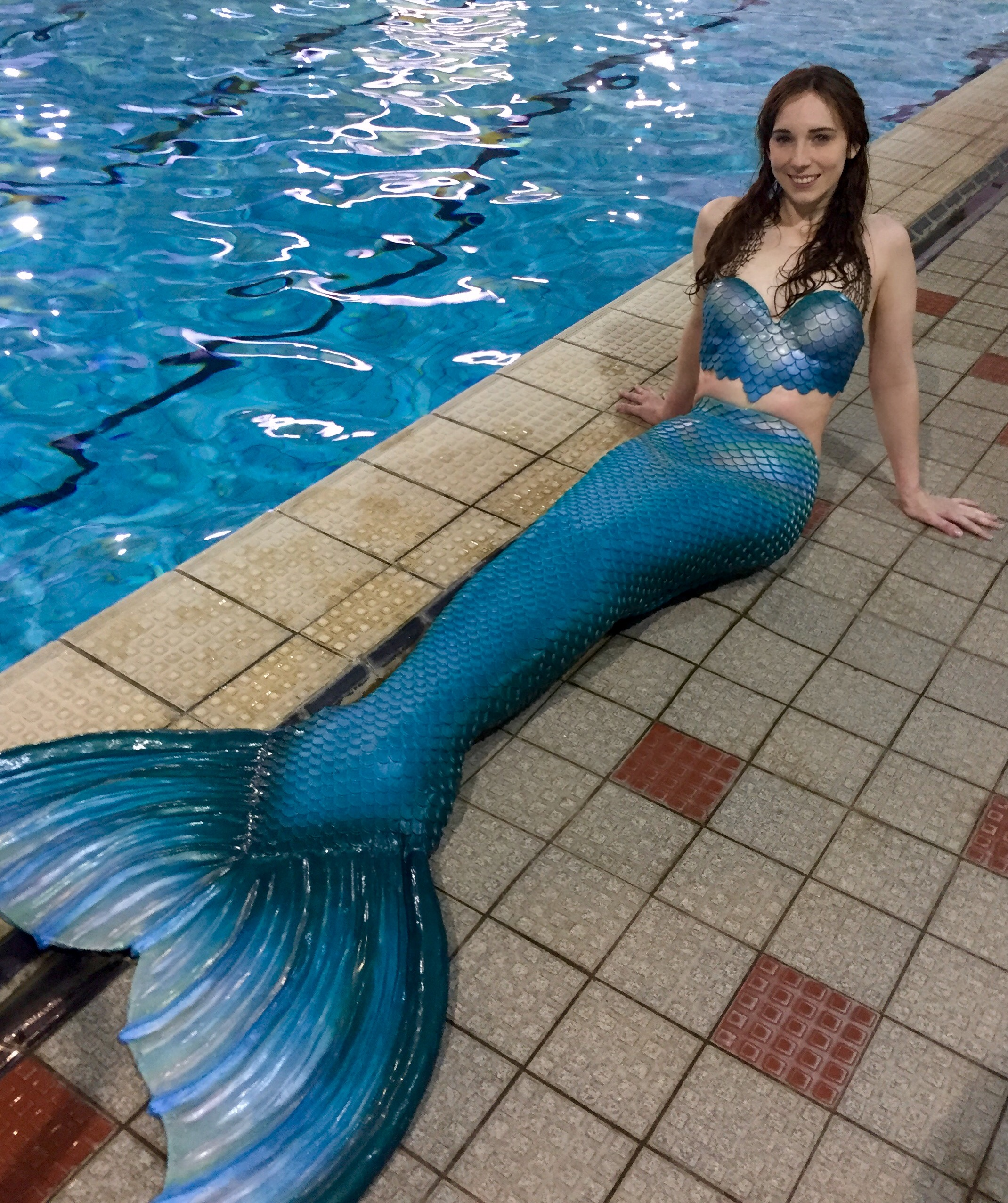 Mermaid Michelle in her Mernation tail and top