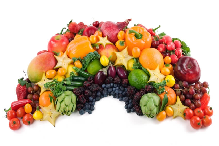 Eating lots of different colours of fruit and veg will ensure that you get a wide variety of anti-oxidants