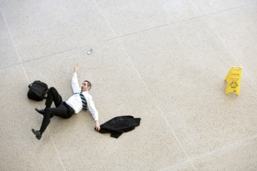 slip/fall injuries are the No.#2 accident problem in the workplace -