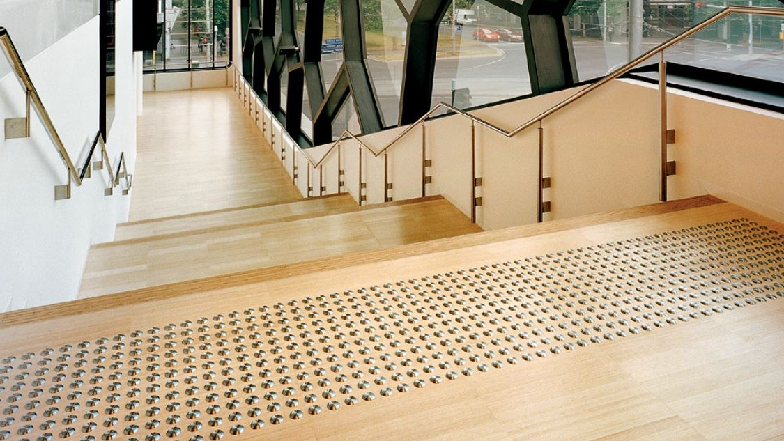 Tactile Guidance Systems - Grip Guard tactiles provide safe and effective tactile cues for the vision impaired. Our tactlies can be installed in aesthetically sensitive applications or where exotic substrates are used for flooring