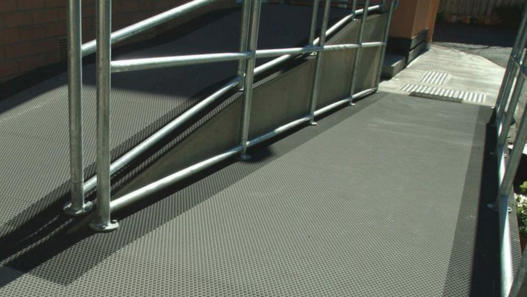 Safety Flooring - Grip Guard marine grade safety flooring is designed to provide a secure non-slip surface in areas where grip under foot is essential for pedestrian safety such as ramps or marine environments.