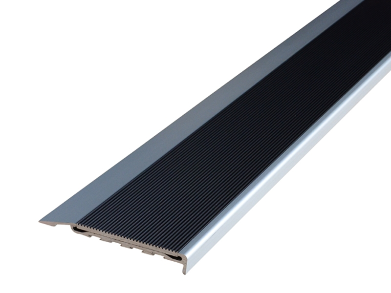 Surface Mounted Clear Anodised Profile with Corrugated Black Anodised Insert