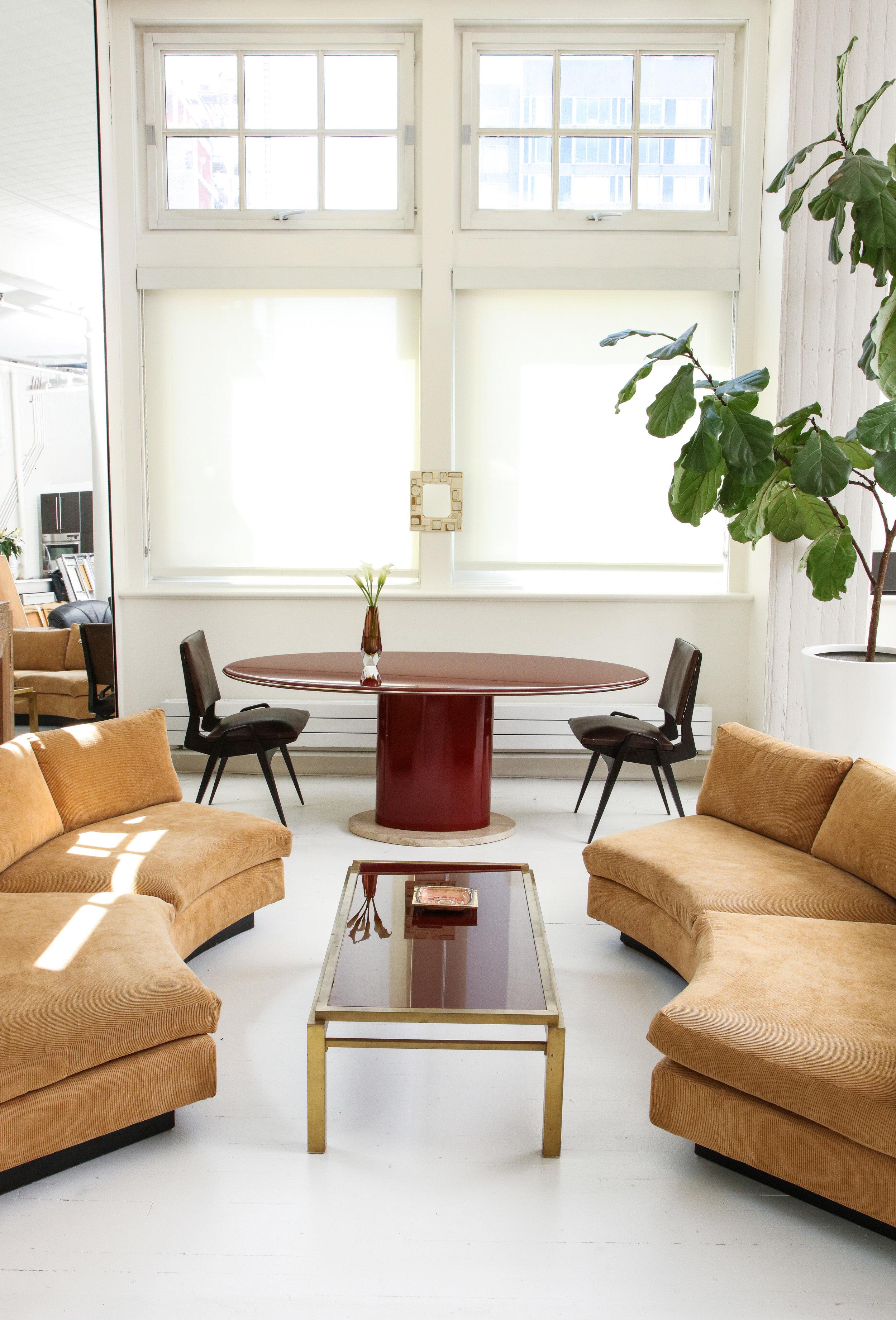 josh gaddy vignette red laquer table, milo sofa, maison table april 2017.jpg