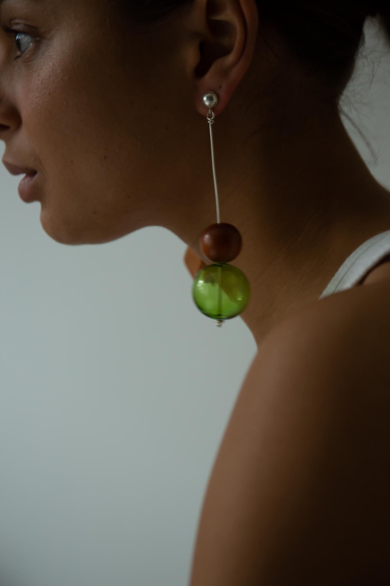 Glas Drop Earring Catzorange