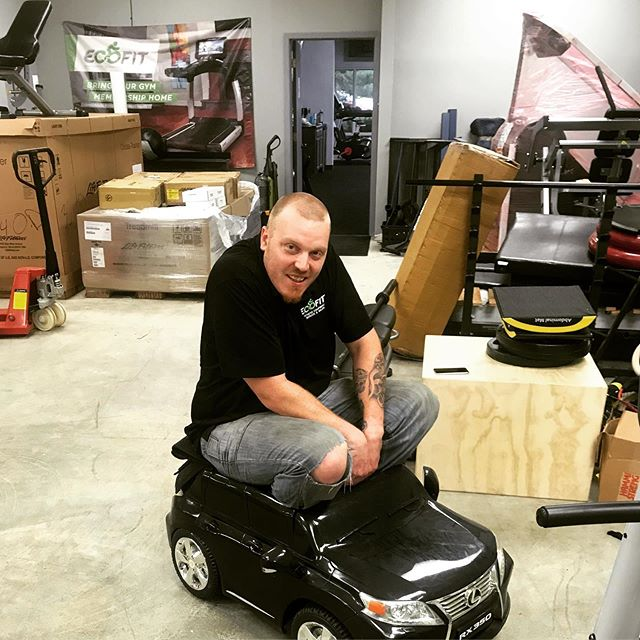 Check out our new ride for our fleet vehicles @ecofitequipment #fridayfun #jeremysnewworkcar #lowgas #gymgoals #wefixtreadmills #wecantfixtoycars