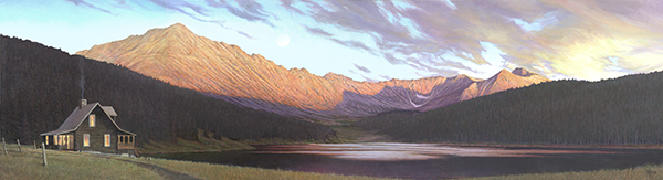 """A Perfect Evening""  - Published as a canvas giclee, each print is signed and consecutively numbered by the artist. Edition Size: 100. Image Size: 12""x44"". From $199"