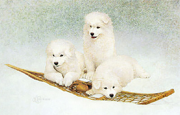 """Snow Buddies"" - Image Size: 18""x13.25"". From $99."