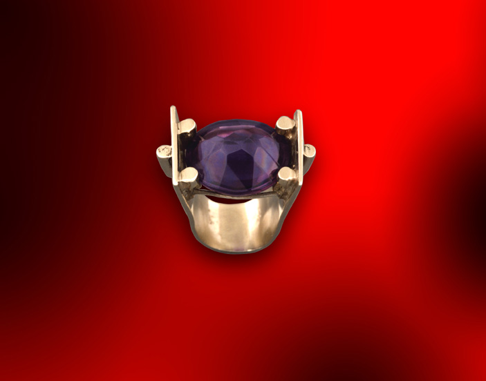 Sterling & Amethyst Ring