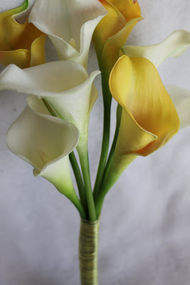 Silk Callas Wedding Bouquet
