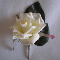 Cream Rose Boutonniere - Minneapolis Silk Florist