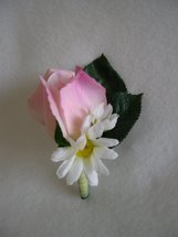 Pink Rose and Daisy Boutonniere - Minneapolis Silk Florist