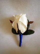 White Rose Bud Boutonniere - Minneapolis Silk Florist