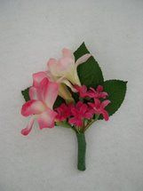 Pink Freesia and Accent Flower Boutonniere - Minneapolis Silk Florist